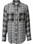 EQUIPMENT plaid patch pockets shirt - 5.25