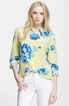 Equipment 'Reese' Floral Print Silk Shirt