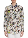 Equipment Slim Floral-Print Silk Shirt