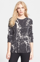 Equipment 'Sloane' Marble Print Crewneck Cashmere Sweater