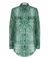 Equipment Snake Print Slim Signature Shirt