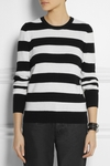 White Shane Striped Cashmere Sweater