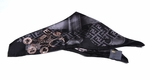 Black Chain Print Silk Square Scarf