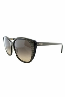 Fendi Rebecca Cat Eye Sunglasses In Dark Gray & Gold