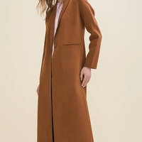 GALAXIE LONG DOUBLE-SIDED WOOL COAT