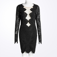 Geometric Lace Dress