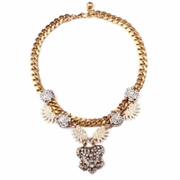 Gold Burst Statement Necklace
