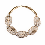 Goldtone Drift Statement Necklace
