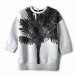 Gray Palm Tree Sweatshirt