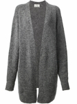 Gray Raya Short Open Cardigan