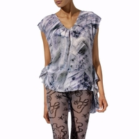 Gray X-ray Print Top