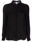 Haute Hippie Black Fringed Sheer Shirt - 9.5