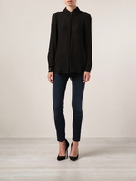 Haute Hippie Black Fringed Sheer Shirt