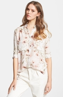 Haute Hippie Multicolor To Jj Floral-Print Silk Shirt