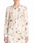Haute Hippie Multicolor To Jj Floral-Print Silk Shirt - 5.2