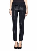 HELMUT LANG Black Reflective Panels Cropped Skinny Pants