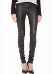 HELMUT LANG Faux-Pocket Leather Leggings - 4.19