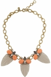 J.CREW Arrowhead Goldtone Crystal Acetate And Cubic Zirconia Necklace