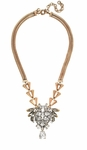 CRYSTAL CHEVRON-LINK NECKLACE