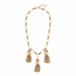 J CREW FLOWER BUD TASSEL NECKLACE
