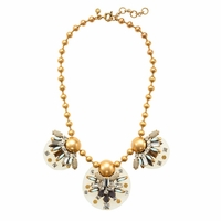 Gold Floating Gems Necklace