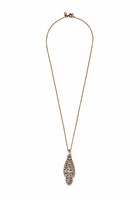 Silver Crystal Icicle Pendant Necklace