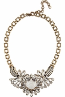 J.CREW Station Agent Goldplated Crystal Necklace