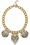 Station Deco Goldtone Crystal Necklace (On Sale)