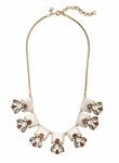 J.CREW White Crystal And Stone Row Necklace