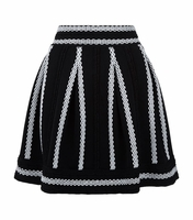 JULANE Jacquard knit short skirt