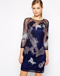 Karen Millen Dress in Embroidered Lace Mesh - 5.7