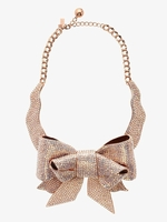 ALL WRAPPED UP PAVE BOW COLLAR NECKLACE