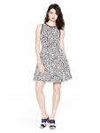 Kate Spade Beige Leopard Jacquard Dress - 7.28