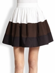 Kate Spade Black Colorblock Coreen Skirt