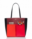 KATE SPADE BLAZE A TRAIL FOX POCKET TOTE - 8.29