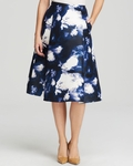 Kate Spade Blue Dusk Cloud Print Skirt - 5.3