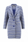 Kate Spade Gray Oversize Scuba Stripe Coat - 4.13