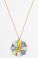 Multicolor Bungalow Bouquet Long Pendant Necklace