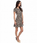 KATE SPADE NEW YORK AUTUMN LEOPARD FLARED DRESS - 5.14