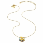 Goldtone Bungalow Bouquet Mini Pendant