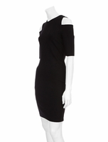 Black Sakon Shoulder Cut Out Dress