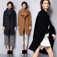 Lazy Italian quilted knit coat