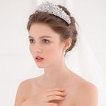 Light Colored Tiara with Crystals
