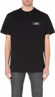 Love Embroidered Cotton-Jersey T-Shirt