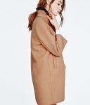 MAJE GRACE Camel wool-blend coat - 9.19