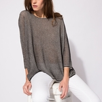 MAJE MARIUS Oversize printed cotton sweater - 9.7