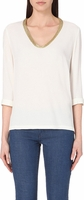 Maje White Topaz Beaded T-Shirt