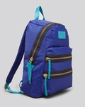 Blue Backpack Colorblock Domo Arigato Packrat