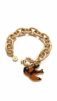 Gold Petal To The Metal Charm Bracelet