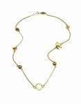 MARC BY MARC JACOBS Gold Short Medley Necklace